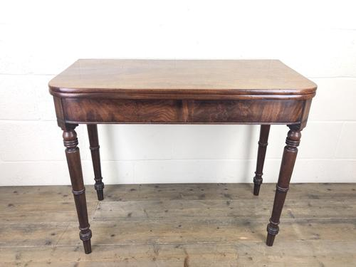 Antique 19th Century Mahogany Fold Over Side Table (1 of 14)