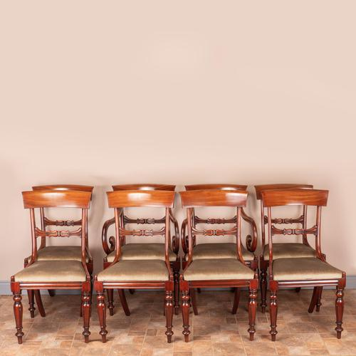 Set of Eight 19th Century Mahogany Dining Chairs (1 of 26)