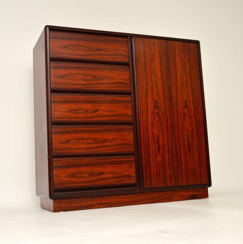 Danish Vintage Rosewood Gentleman's Wardrobe / Chest by Brouer (1 of 15)
