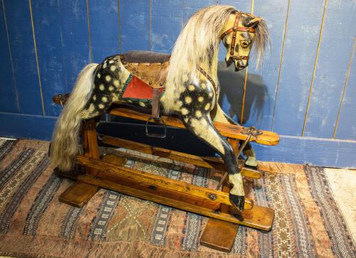 Vintage Rocking Horse. Baby Carriage Rambler (1 of 11)