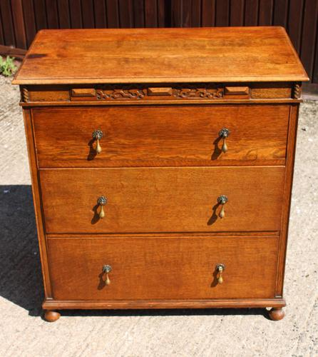 1940s 3 Drawer Oak Chest of Drawers (1 of 4)