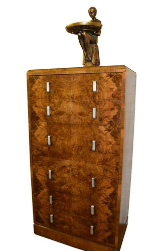 Large Art Deco Six Drawer Chest of Drawers (1 of 10)