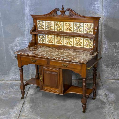 Victorian Walnut Washstand (1 of 9)