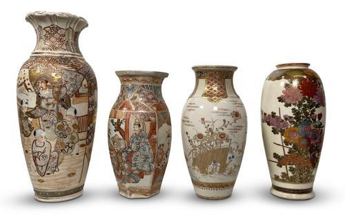 Four Satsuma Vases (1 of 3)