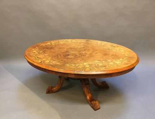 Victorian Walnut Coffee Table (1 of 7)