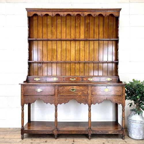 Antique Welsh Oak Pot Board Dresser (1 of 10)