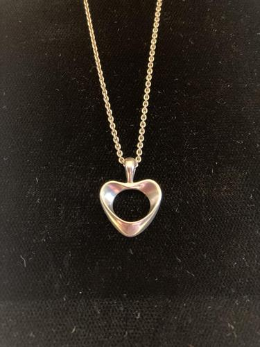 Georg Jensen Silver Heart Pendant (1 of 4)