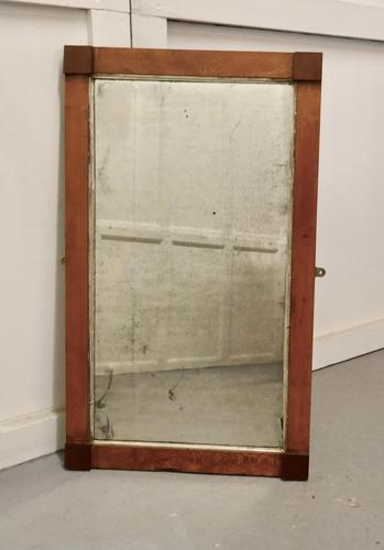 Art Deco Birds Eye Maple & Mahogany Framed Mirror (1 of 5)