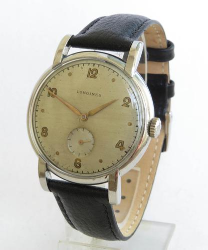 Gents Over-sized Longines Wrist Watch, 1950 (1 of 5)
