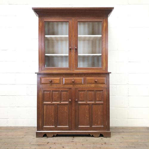 Late 19th Century Welsh Oak Two Stage Cupboard with Glazed Top (1 of 10)