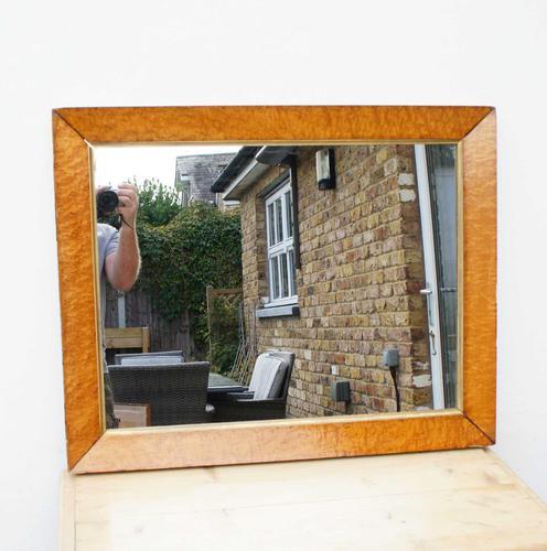 Victorian Birds Eye Maple Overmantle Mirror (1 of 12)