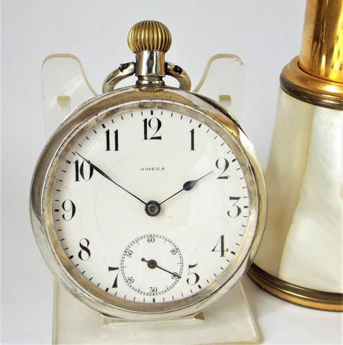 Antique  Silver  Omega Pocket Watch (1 of 5)