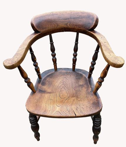 19th Century Smokers Bow Armchair (1 of 4)