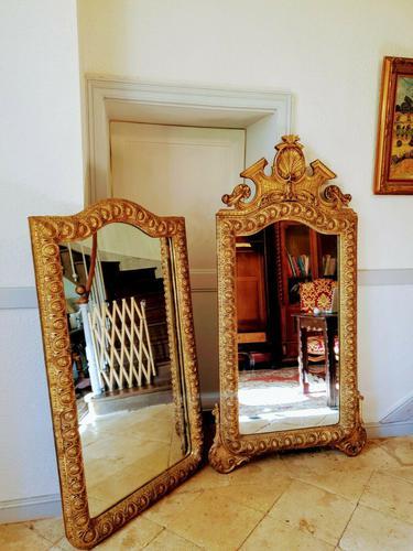 Pair of Italian Large Gilt Mirrors (1 of 10)