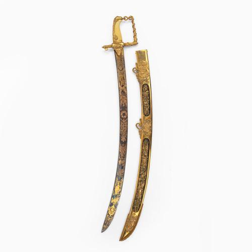 The Lloyd's Patriotic Fund £100 Trafalgar Sword awarded to JOHN PILFORD ESQ CAPTAIN OF HMS AJAX, 21st October 1805 (1 of 20)