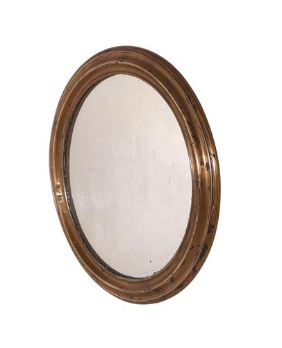 Brass Oval Mirror (1 of 3)