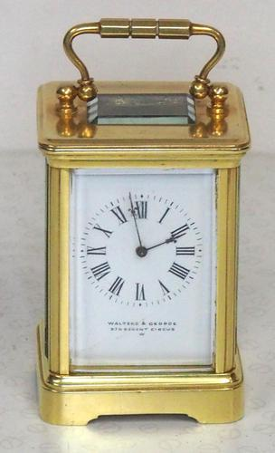 Antique Miniature 8 Day Carriage Clock by Walters & George Regent Street Rare (1 of 14)