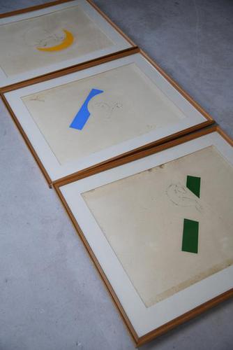 Series of 3 Framed Pastels (1 of 12)