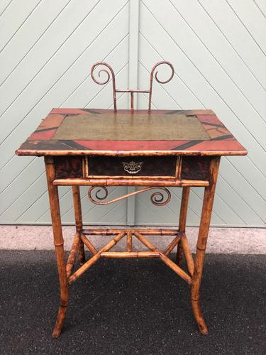 Antique Lacquered Bamboo Desk (1 of 11)