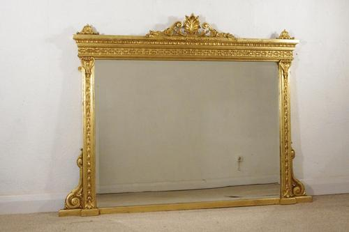 Victorian Gilt Overmantle Mirror (1 of 9)