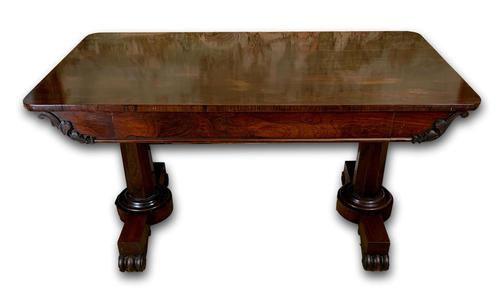 Large 19th Century Rosewood Library Table (1 of 6)