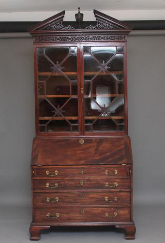 Superb Quality 18th Century Mahogany Bureau Bookcase (1 of 23)