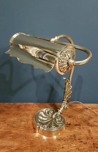 Superb Antique Brass Adjustable Desk Lamp (1 of 7)