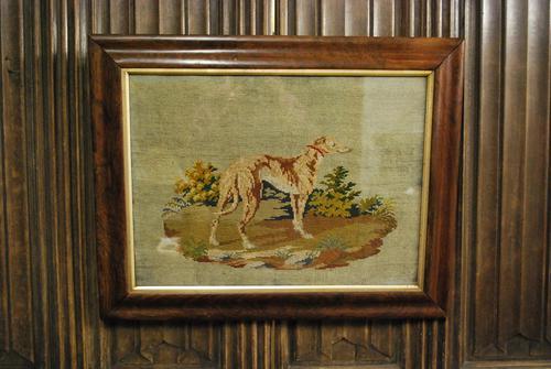 Needlework of a long dog/ greyhound (1 of 5)