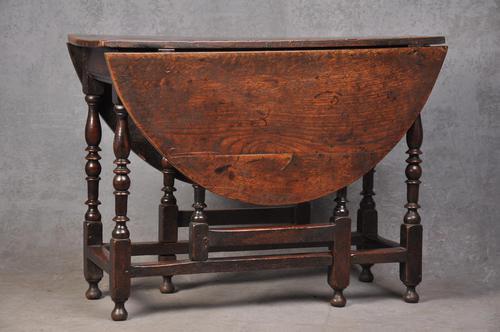 Good 17th Century Oak Gateleg Table (1 of 8)