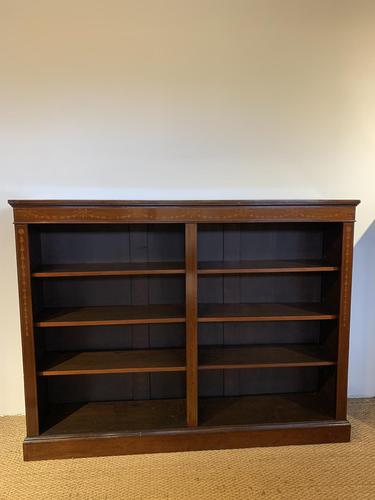 Edwardian Inlaid Open Bookcase (1 of 11)