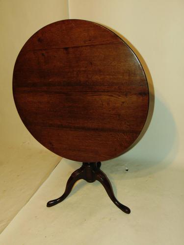 Georgian Oak Birdcage Tripod Table (1 of 6)