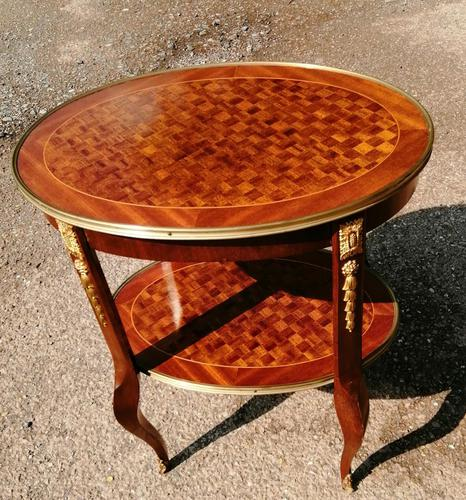 French Parquetry Occasional / Lamp Table (1 of 9)