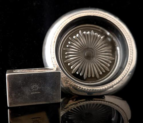 Art Deco Silver Smoking Set, Ashtray, Match Safe (1 of 9)