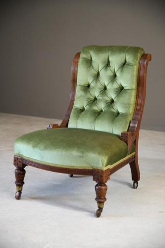 Victorian Mahogany Nursing Chair (1 of 9)