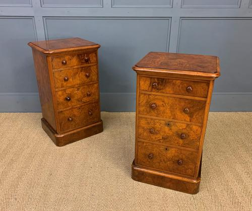 Pair of Burr Walnut Bedside Chest by Heal and Son (1 of 16)