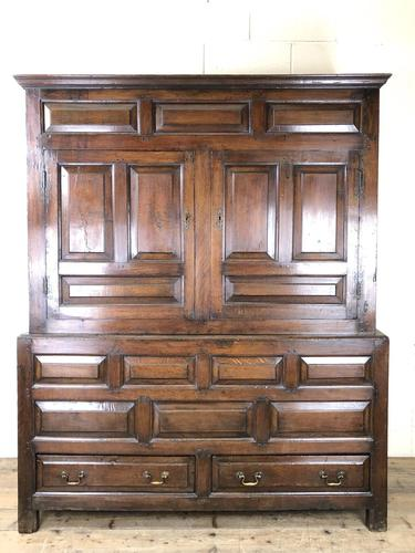 Large 18th Century Welsh Oak Hanging Cupboard (1 of 16)
