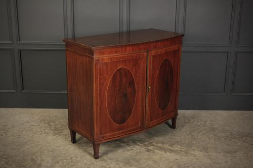 Inlaid Mahogany Bow Front Side Cabinet (1 of 11)