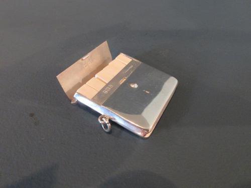 Rare Edwardian Silver 'Butt' Marker Case (1 of 7)