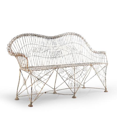 Elaborate Mid 19th Century Wirework Sofa (1 of 4)