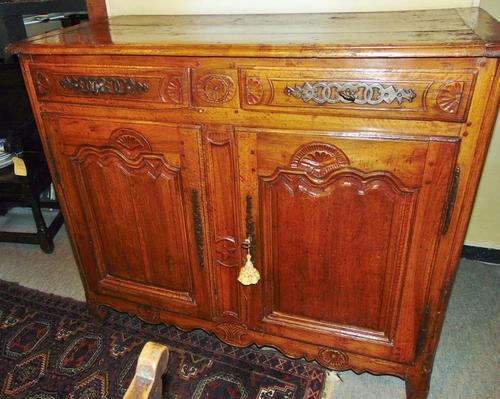 French provincial Louis XIV cherrywood buffet (1 of 12)