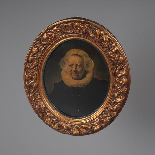 Oval Gilt Framed Portrait After Rembrandt (1 of 6)