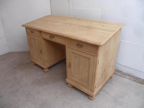 Lovely Massive Victorian Antique Pine Office Desk to wax or paint (1 of 11)