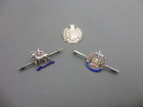 3 Silver Military Sweetheart Brooches (1 of 7)