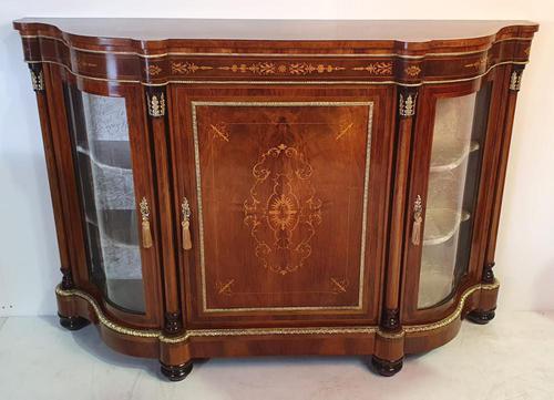 19th Century Inlaid Burr Walnut Credenza (1 of 4)