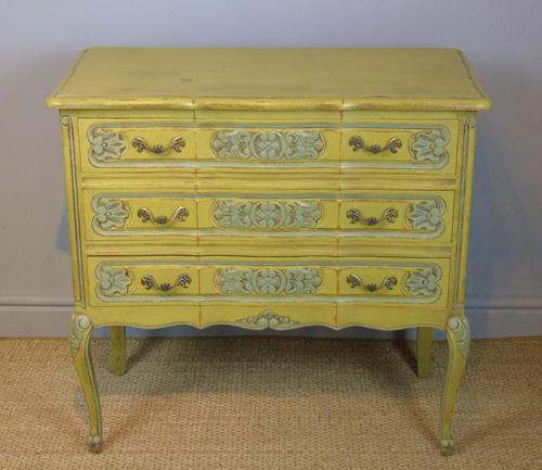 Pretty Hand Painted French Chest of Drawers (1 of 8)