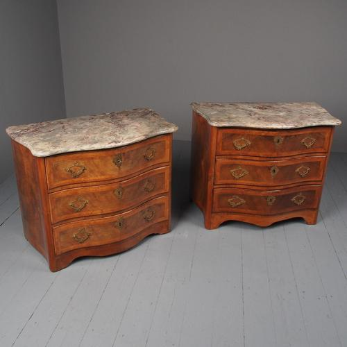 Pair of Antique French Walnut Commodes (1 of 17)