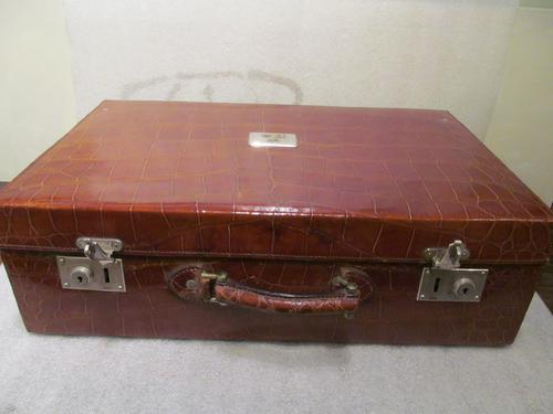 Fine Quality Crocodile Skin Suitcase (1 of 7)