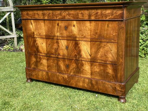 French Burr Walnut Commode (1 of 6)