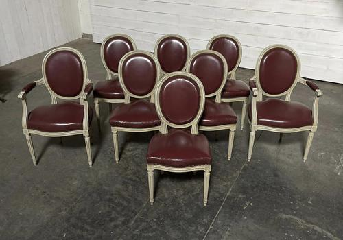 Set of 8 French Dining Chairs Lovely Original Finish (1 of 18)