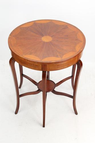 Edwardian Mahogany & Inlaid Circular Side Table (1 of 13)